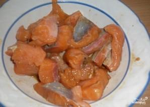 Шашлык из рыбы в духовке - фото шаг 1