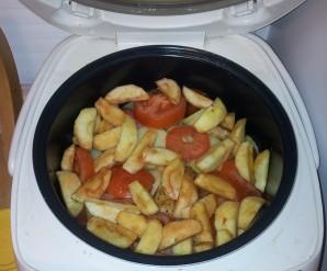 Отбивные с яблоками в мультиварке - фото шаг 7