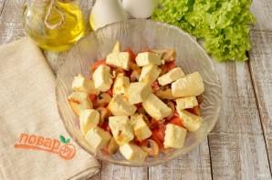 Теплый салат с жареным сыром - фото шаг 5