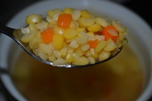 Суп с гренками  - фото шаг 1