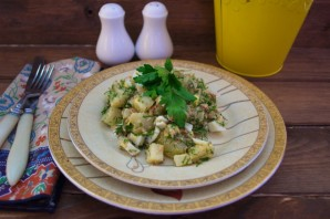 Диетический салат с консервированным тунцом - фото шаг 5
