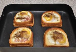 Бутерброды в духовке с яйцом - фото шаг 7