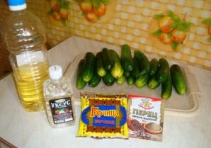 Огурцы в горчичной заливке - фото шаг 1