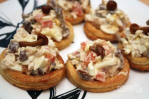 Творожные тарталетки с куриным салатом - фото шаг 7