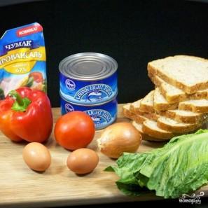 Сэндвичи с салатом из тунца - фото шаг 1
