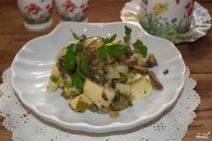Салат с вешенками - фото шаг 6