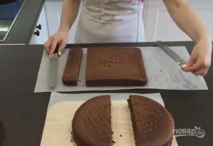 Торт в виде сердца без формочки - фото шаг 2