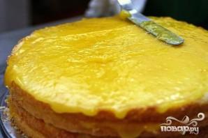 Многослойный лимонный торт - фото шаг 5