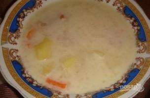 Сырный суп со свининой в мультиварке - фото шаг 6