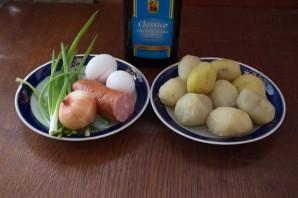 Картофельные котлеты с колбасой - фото шаг 1