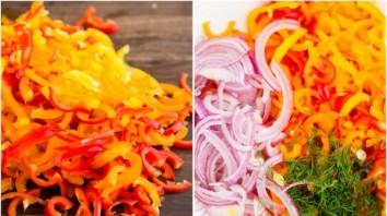 Салат из маленьких перчиков - фото шаг 2