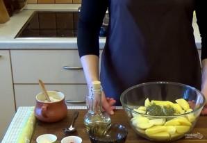 Картофель с травами и чесноком - фото шаг 1