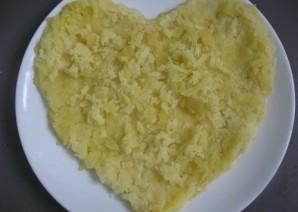 Салат в виде сердца - фото шаг 2