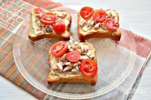 Горячие бутерброды с курицей и сыром - фото шаг 6