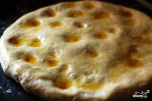 Фокачча с сыром и базиликом - фото шаг 8