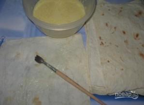 Ленивый хачапури из лаваша - фото шаг 2