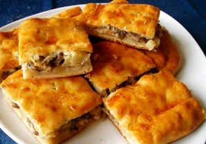 Пирог с сайрой и картошкой - фото шаг 5