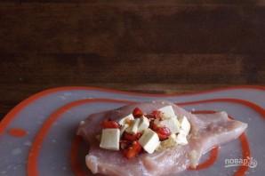 Мясной рулет с овощами и сыром - фото шаг 4