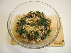 Салат с грибами жареными - фото шаг 6
