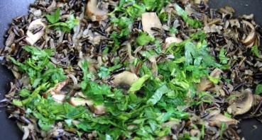 Салат с грибами и рисом - фото шаг 3