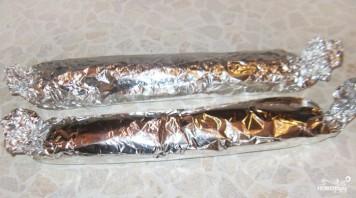 Зеленый рулет из шпината с лососем - фото шаг 9
