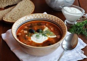 Суп-солянка мясная - фото шаг 8
