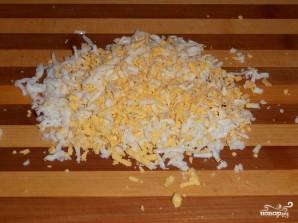 Блинный пирог с курицей и грибами - фото шаг 9