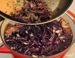 Суп из красной капусты - фото шаг 5
