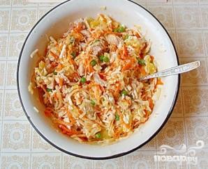 Салат с курицей и дайконом - фото шаг 6