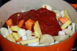 Овощное рагу с мясом - фото шаг 4