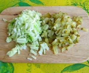 Салат с ветчиной и рисом - фото шаг 2