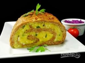 Мясной рулет с картофельной начинкой - фото шаг 10