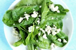 Салат из шпината и персиков - фото шаг 6