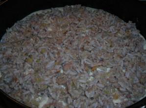 Пирог из сайры с рисом - фото шаг 3