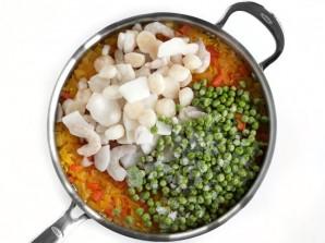 Рис с морепродуктами и овощами - фото шаг 6