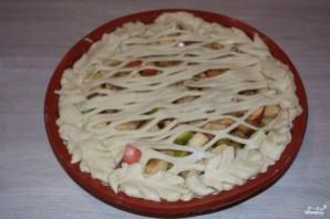 Пирог с яблоками из дрожжевого теста - фото шаг 5
