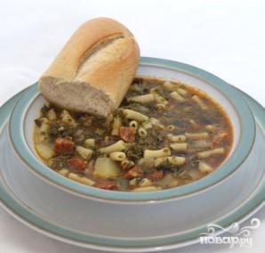 Суп с капустой и колбаской чоризо - фото шаг 5