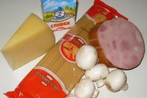 Карбонара с грибами - фото шаг 1