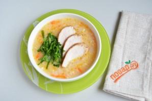 Нежный рисовый суп с курицей и шпинатом - фото шаг 8