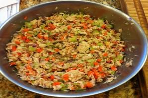 Простой салат с тунцом консервированным - фото шаг 4
