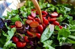 Теплый салат с куриной грудкой и овощами - фото шаг 6