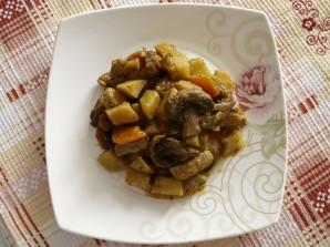 Рагу с мясом и грибами - фото шаг 7