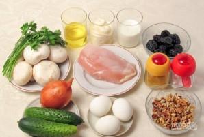 Салат с курицей и грибами слоями - фото шаг 1
