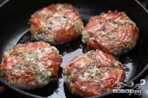 Гамбургер с белыми грибами - фото шаг 6
