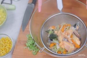 Чаудер с лососем - фото шаг 3