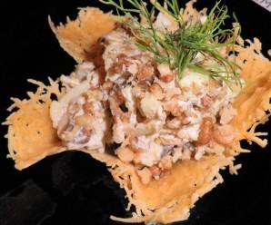 Салат в корзинке из сыра - фото шаг 6