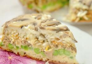 Пирог с грибами перевертыш - фото шаг 5