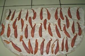 Рулетики из лаваша с рыбой - фото шаг 2