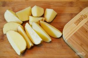 Деревенский картофель под сырным соусом - фото шаг 3