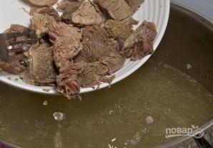 Томатный суп с говядиной и горошком - фото шаг 7